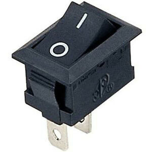 Black Mini Rocker Switch SPST ON-OFF. 1 or 6 pack. FREE POSTAGE