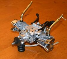 Saito FT 130 Twin Cylinder RC Four Cycle model airplane engine 4 stroke vintage