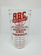 Vintage advertising measuring glass - ABC Super Markets (1168)