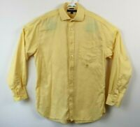 Tommy Hilfiger Mens Shirt Long Sleeve Button Down Cotton Yellow Size Medium EUC