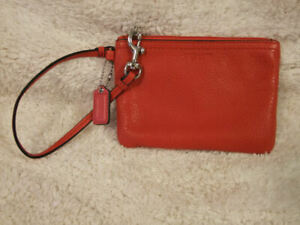 Coach Small Red Wristlet Purse