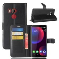 HTC U11 Eyes Custodia a Portafoglio Protettiva Cover wallet Case Nero