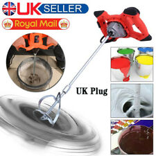 Electric Paddle Mixer Plaster Mortar Cement Paint Stirrer Plastering Whisk UK