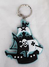 Pirate Ship Keyring / Key Ring - BNIB - Assorted Colours