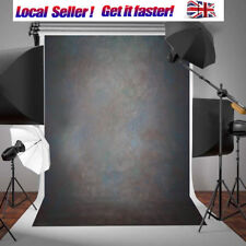 7x5FT Thin Vinyl Black Grey Retro Studio Photo Backdrop Photography Background