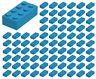 ☀️100 NEW LEGO 2x4 Dark Azure Bricks (ID 3001) BULK Parts star wars city town