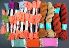 24x Needlepoint/Embroidery THREAD BUCILLA 3ply Persian wool-FS72