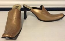 Regina Metallic Mules Sz 6/6 1/2 Leather