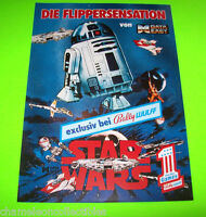 STAR WARS By DATA EAST 1992 RARE GERMAN ORIGINAL NOS PINBALL MACHINE PROMO FLYER