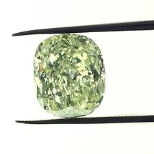 2.85 CT FANCY LIGHT GREEN YELLOW COLOR CUSHION GIA CERT DIAMOND TAXFREE Gift