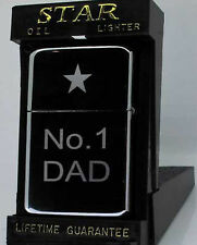 ENGRAVED PETROL LIGHTER No1 DAD FATHERS DAY GIFT UK