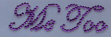 '' Me Too '' Purple Crystal Diamante ''Bling'' Shoe Applique Sticker