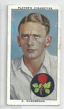1938 John Player & Sons (30) C. WASHBROOK Lancashire & England