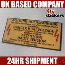 MK2 Golf GTI Engine Bay Warning Sticker 283