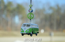 Green Volkswagen Samba Bus Camper Kombi VW T1 T2 Mirror Hanger Ornament Splitty