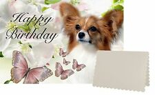 Papillon Dog C5 Birthday Day Card Design BPAP2-1 by paws2print
