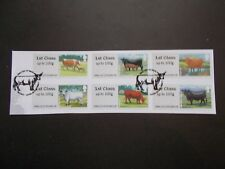 GB~2012~Post & Go Stamp Labels~Cattle~VFU Set~on piece~P&G 9~ex fdc~UK