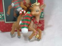 Enesco Rudolph Special Delivery Christmas Ornament 1994 The Red Nosed Reindeer