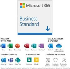 Microsoft 365 Business Standard 5 PC/MAC, 5 Tablets, 5 mobile 1 Jahr NEU ESD