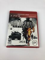 Battlefield Bad Company 2 -- Greatest Hits PS3 Video Game Disc, Case and Manual