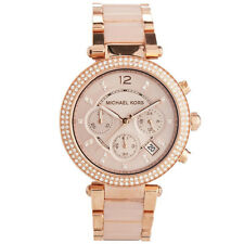 MICHAEL KORS Parker MK5896 Blush Dial Rose Gold-tone Chronograph Ladies Watch