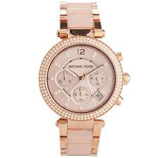 MICHAEL KORS Parker MK5896 Blush Dial Rose Gold-tone Chronograph Ladies Watch