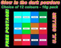 Ultra glow In The Dark powder UV light reactive pigment powder 10g UK SELLER