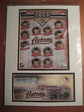 Houston Astros Matted Art 2008 Team Photo w/Minute Maid Park Envelope & Stamp