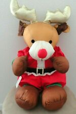 Vintage Telco Christmas Motionette - Plush Reindeer Very Rare Tested Works