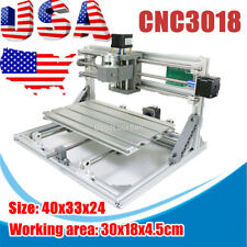 DIY Mini 3 Axis 3018 CNC Machine Pcb Milling Wood Router Engraver Printer in USA
