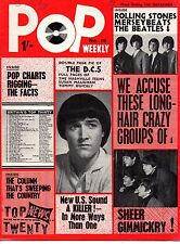 Pop Weekly Magazine 12 December 1964  The Supremes Susan Maughan Dave Clark Five