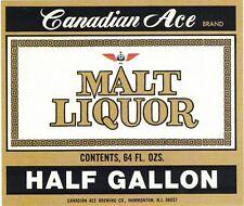 Canadian Ace Malt Liquor Label