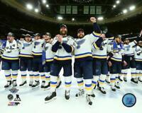 2019 Stanley Cup ST LOUIS BLUES Alex Pietrangel-David Perron LICENSED 8x10 photo