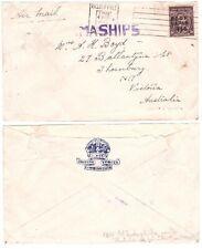 Australia Japan overprinted B.C.O.F 1946 Army military British Forces RRR ship
