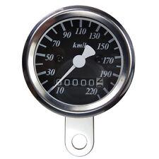 Mini Tachometer Speedometer schwarz 48 mm Motorradtacho für Cafe Racer Bobber