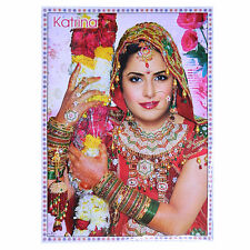 Poster Katrina Kaif Blumen 75 x 50 cm Bollywood Star Schauspielerin Hochglanz