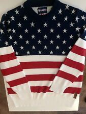 16870e12f7b TIPSY ELVES Men s American Flag XXL Sweater 2XL USA 🗽🇺🇸