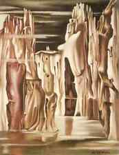 Metal Sign 28 De Lempicka Undated Surrealist Landscape A4 12x8 Aluminium