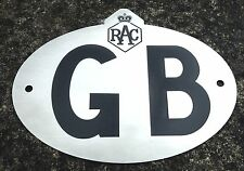 STAINLESS STEEL RAC GB TOURING CAR BADGE / PLATE
