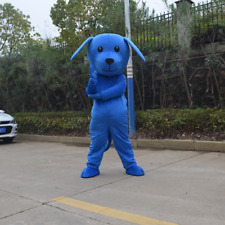 Blue Dog Clothing Mascot Costume Animal Cosplay Fancy Dress Festival Complete