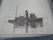 "Vintage! ""Centra Tug Boat"" By Wm.Ewen Jr.Print  6/77"
