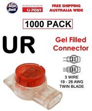 1000 pc UR Twin Blade 2 - 3 Wire Scotch Lock Gel Filled Crimp Connector Terminal