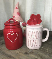 New Rae Dunn Baby Red Heart Canister - Valentine's Day 2021 & Candy Hearts Mug