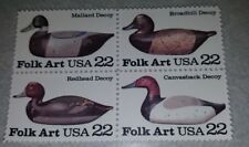 US MNH Postage Stamps Scott #2138- #2141 Duck Decoys 22c