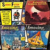 8 Vtg 1950s-60s Pulp SCIENCE FICTION Bks Ray Bradbury Isaac Asimov Frank Herbert