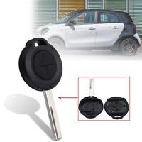 2 Botones Carcasa  Llave Clave Funda Mando Key Para Benz Mercedes Smart Forfour