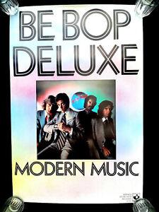 BE BOP DELUXE 'MODERN MUSIC' ALBUM 1976 GENUINE HARVEST RECORDS POSTER UNUSED