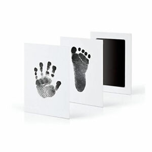 Baby Newborn Keepsakes Imprint Clean Touch Ink Pad Photo Handprint Footprint Kit