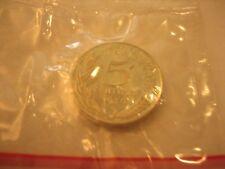 Piéfort 5 Centimes 1976 Argent