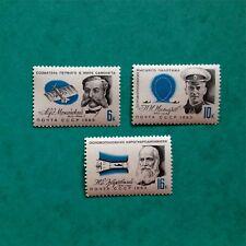 USSR STAMP MNH** 1963 AVIATION CELEBRITIES. NESTEROV. ZHUKOVSKY. SG 2886/2888
